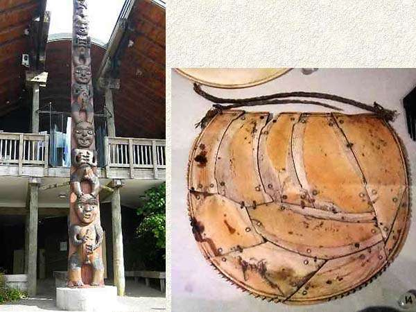 statue et collier maori