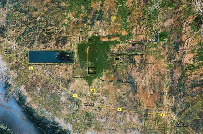 Angkor vue satellite