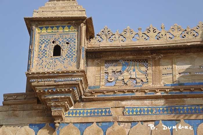 Faïence palais Man Mandir