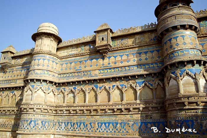 Frise extérieur palais Gwalior