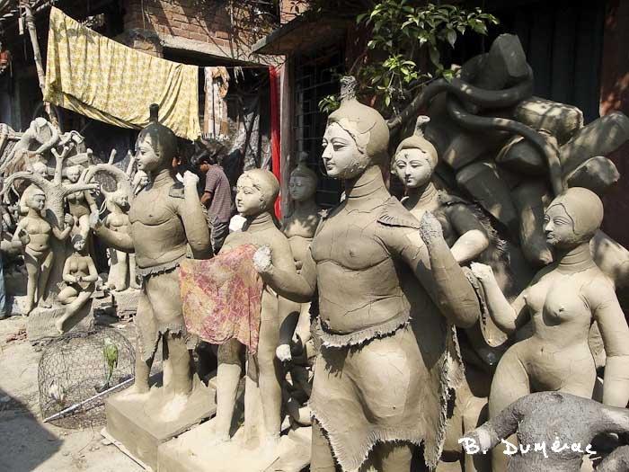 Kumartuli, quartier des sculpteurs