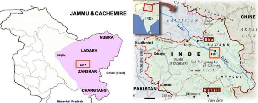 Ladakh carte
