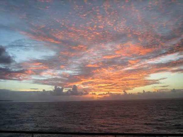 lever du soleil aux Fidji