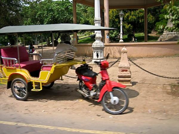 Phnom Penh moto pousse