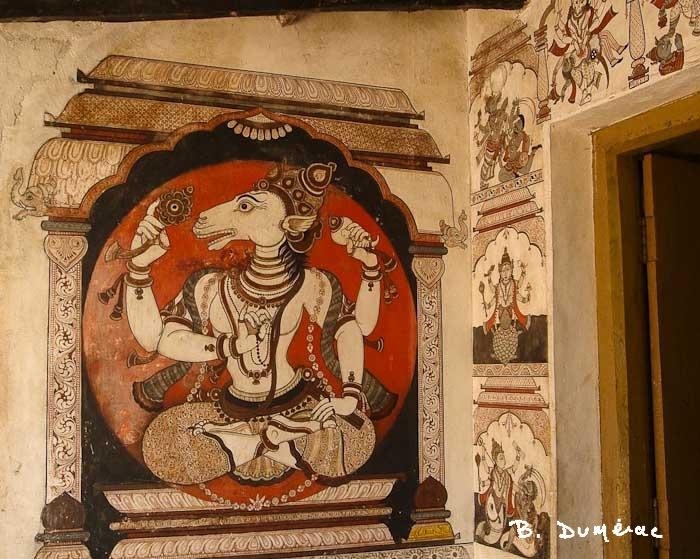 Raghurajpur maison décorée détail 1