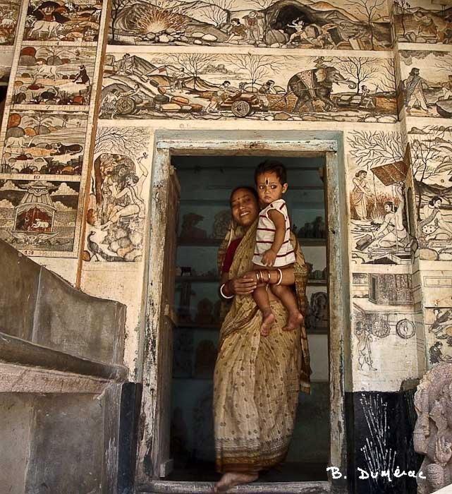 raghurajpur maison décorée et hôtesse