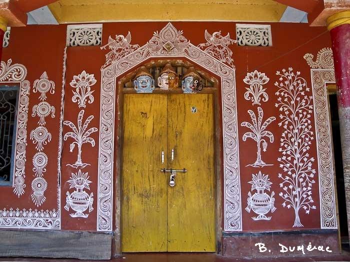 raghurajpur maison décorée 2