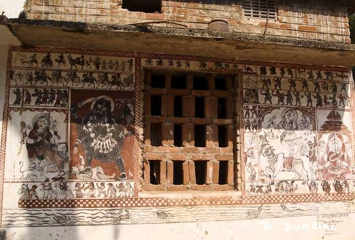 Raghurajpur maison décorée 1