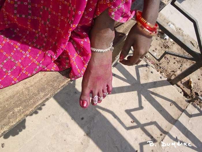 Le pied d'une jeune beauté
