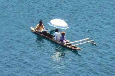barque à Madang