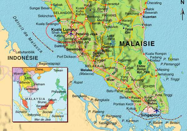 carte Kuala lumpur