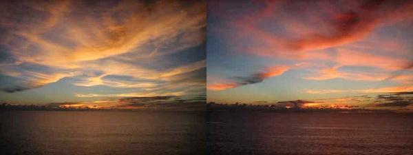 coucher de soleil à Miri