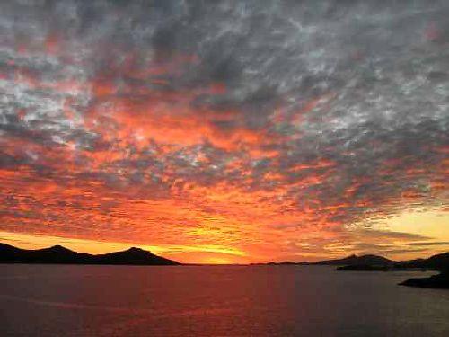 Coucher de soleil sur Nouméa