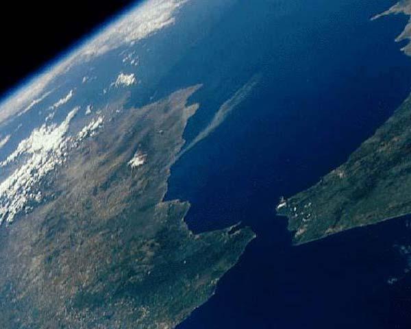 Vue satellite détroit Gibraltar