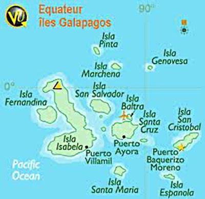 carte des Galapagos