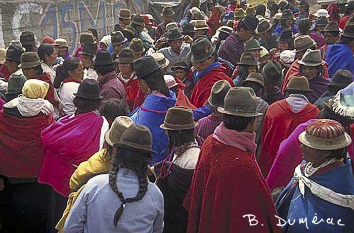 Cuenca foule au marché
