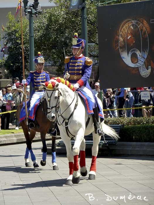 Quito garde à cheval