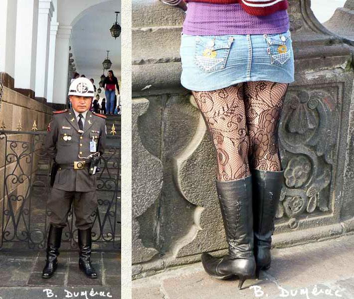 Quito, garde et fille