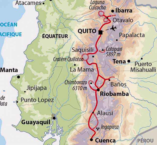 Carte Quito-Cuenca