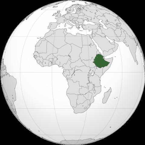 éthiopie sur la carte