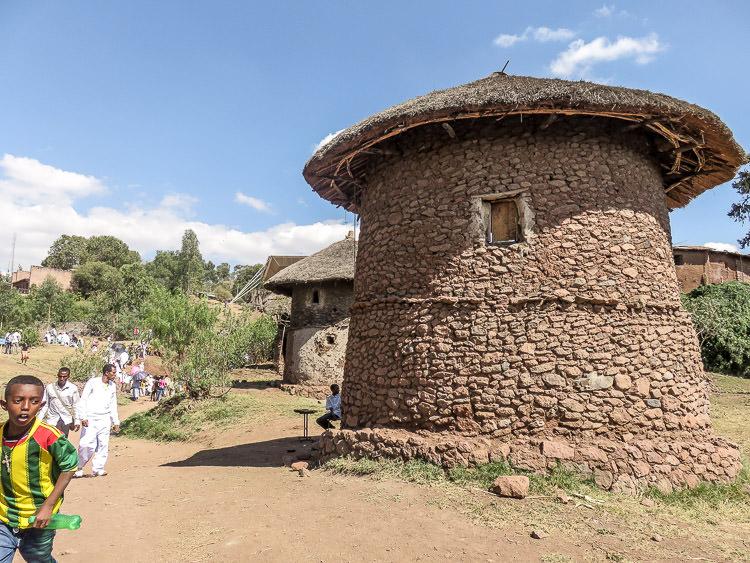 maisons anciennes de Lalibela