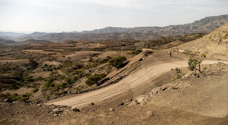 route de Mekele à Lalibela