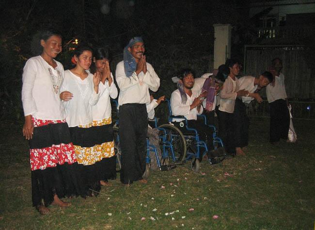 soirée handicapés à Siem Reap