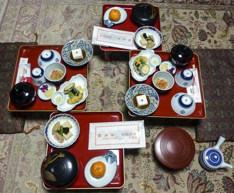 Koyasan Repas du soir