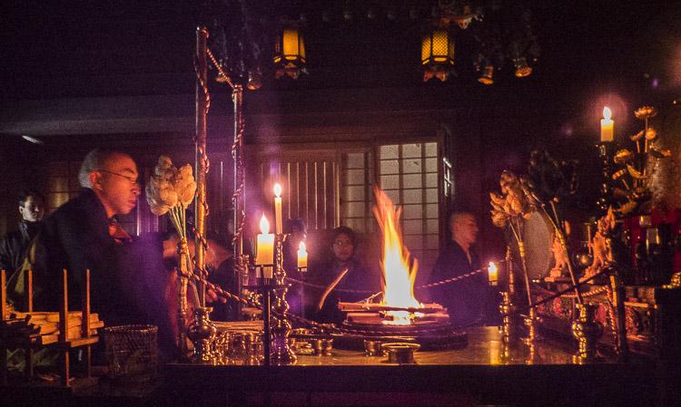 Koyasan cérémonie du feu