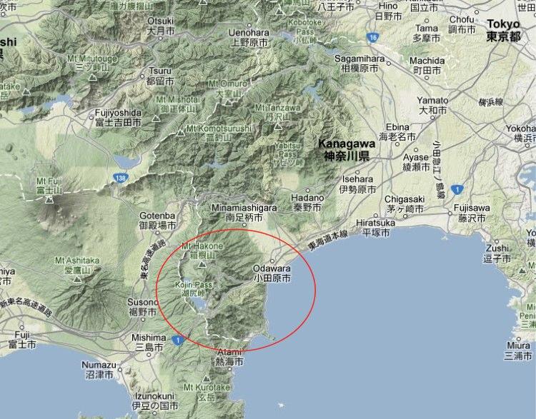 Carte Hakone