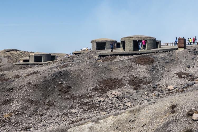 volcan Aso Naka-dake bunkers