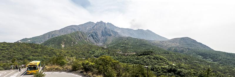 sakurajima le volcan panorama