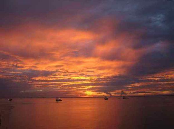lever de soleil à Miri