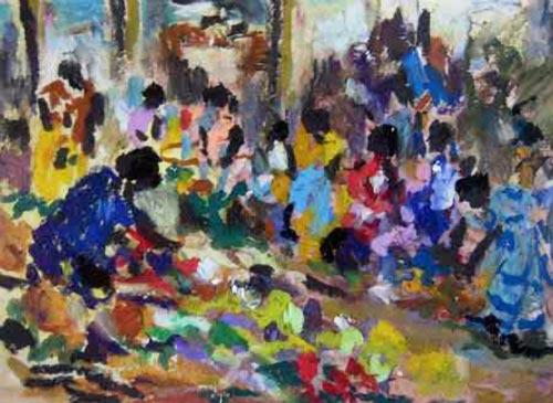 Un marché à Lae