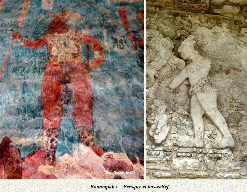 Bonampak : fresque et bas-relief
