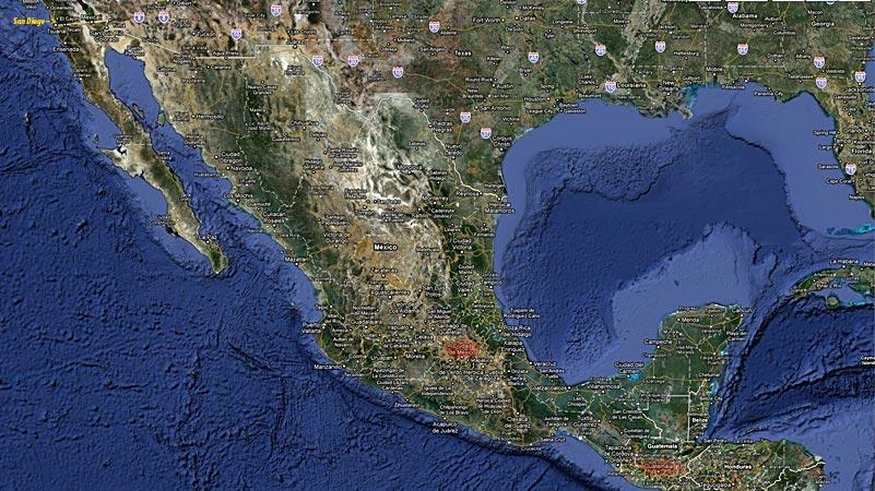 carte du voyage de Brigitte aux Amériques