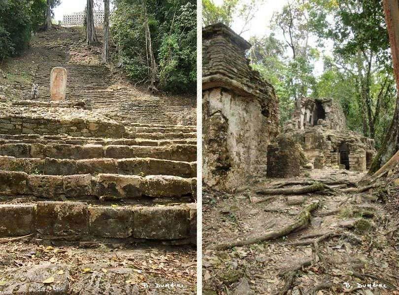 Escalier Yaxchilan