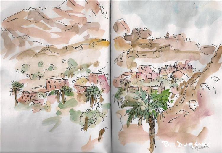 Aquarelle Maroc 2