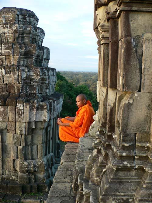 moine à Angkor