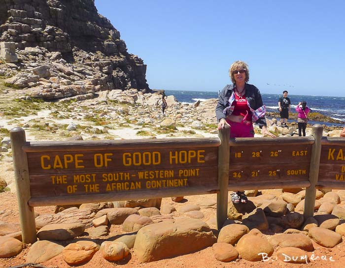 Brigitte au Cap de Bonne Espérance