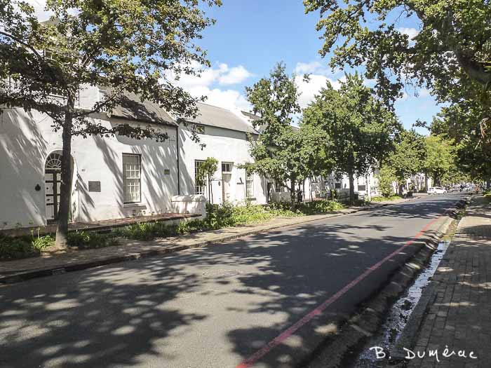 Une rue à Stellenbosh