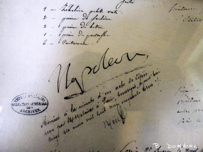 signature napoléon