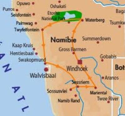 visites en Namibie