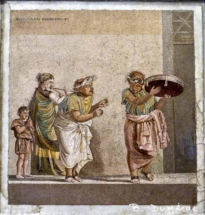 Musée archéologique Naples mosaïque de Pompéi 1