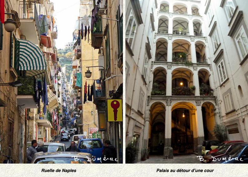 Naples, ruelle et palais