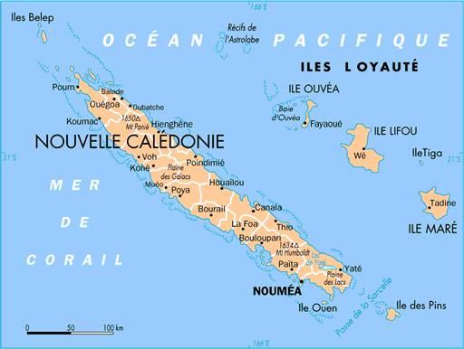 carte de nouvelle calédonie