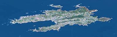 île d'Ouessant (vue satellite)