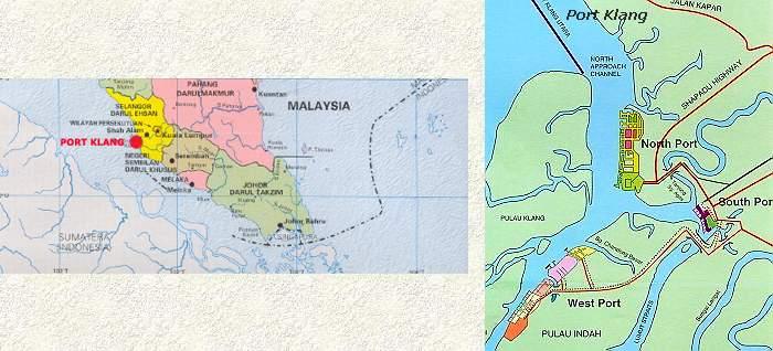 carte de Port Klang