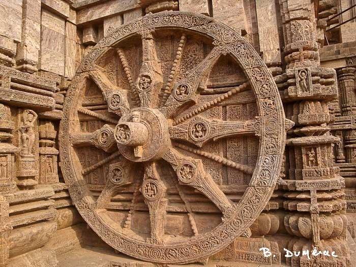 Une des 24 roues du temple du soleil