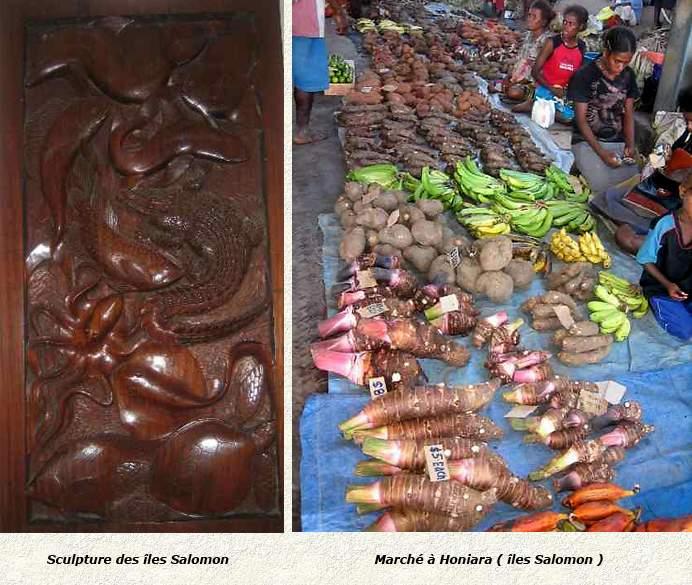 îles Salomon sculpture et marché